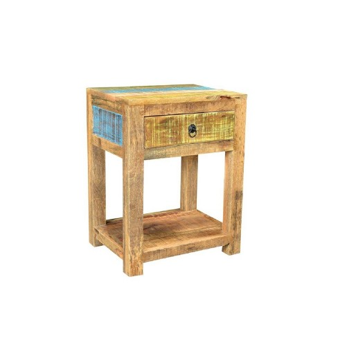 Solid Mango Wood Coffee Table Natural Timbergirl Target