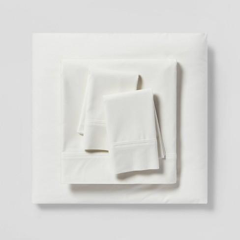300 Thread Count Organic Cotton Solid Sheet Set - Threshold™ - image 1 of 4