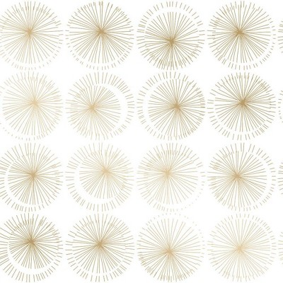 Tempaper Goodbye Moon Self-Adhesive Removable Wallpaper Gold/White