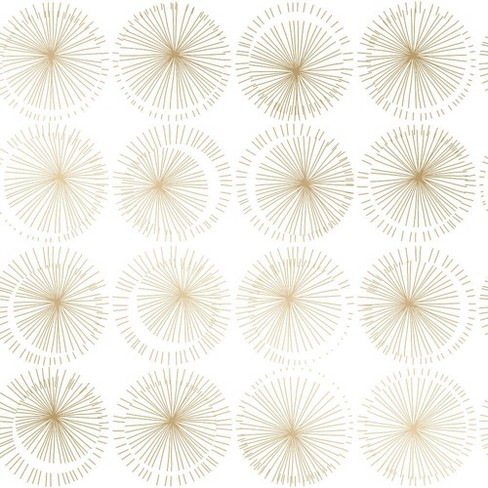 Tempaper Goodbye Moon Self Adhesive Removable Wallpaper Gold White Target