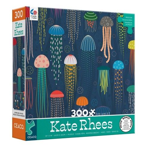 Ceaco Kate Rhees: Jellyfish Oversized Jigsaw Puzzle - 300pc - image 1 of 3
