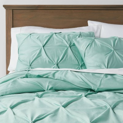 Full/Queen Pinch Pleat Duvet Cover & Sham Set Aqua Mint - Threshold™
