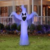 Gemmy Lightshow Airblown ShortCircuit Ghost OPP (Black Light), 6.5 ft Tall, white - image 2 of 2
