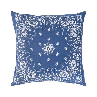 C&F Home Bandana Blue Patriotic 4th of July Memorial Day Labor Day Americana Liberty Decorative Embroidered Pillow