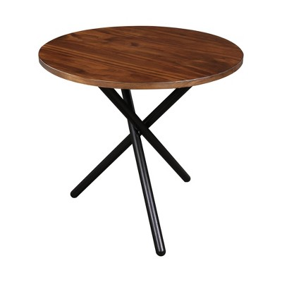 Contemporary Crossed Leg End Table Mocha Black Flora Home Target