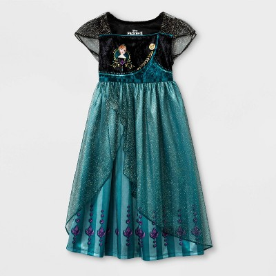 Toddler Girls' Frozen 2 Nightgown - Black
