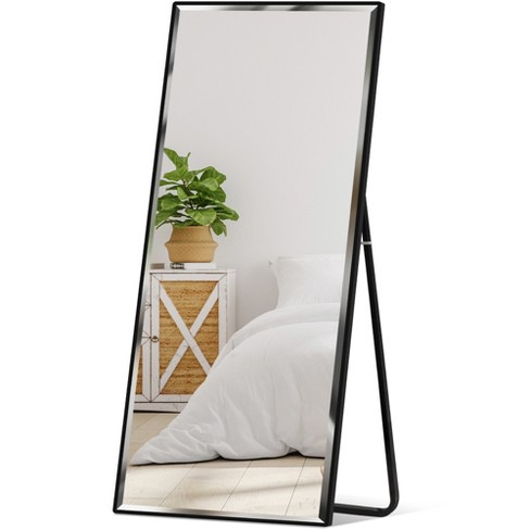 Leaning Floor Mirror, Wall Leaning Full Length Mirror