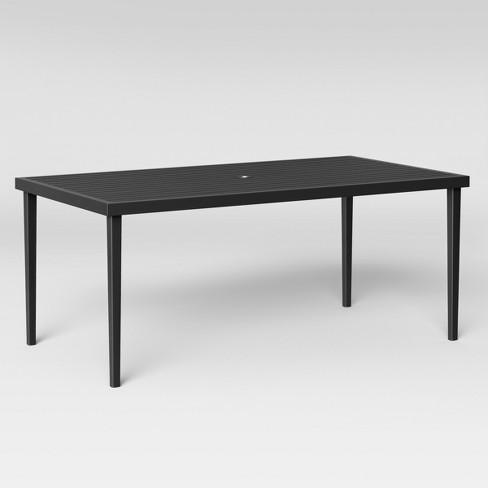 Fairmont Steel Rectangular Patio Dining Table Black Threshold Target