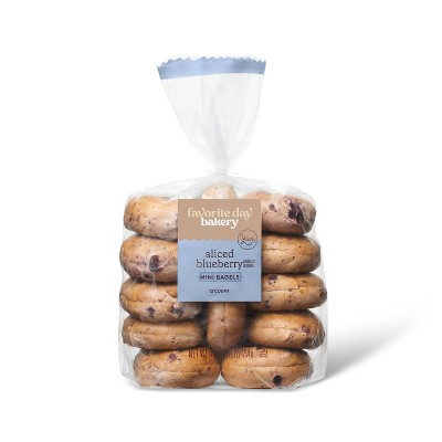 Blueberry Sliced Mini Bagels - 16oz/12ct - Favorite Day™