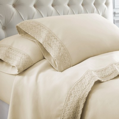 3 or 4 Piece Chochet Lace Microfiber Sheet Set.