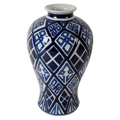 Valora Blue and White Vase - A&B Home - image 1 of 4