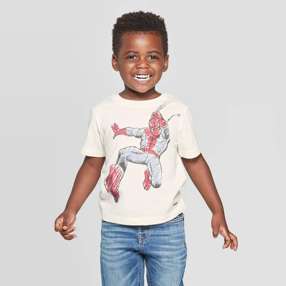Image of Boys' Marvel Spidey T-Shirt - Cream L - Disney Store, Boy's, Size: Large, Beige