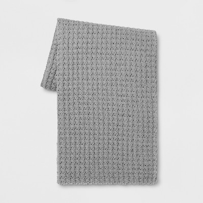 60 x50  Chenille Throw Blanket Gray - Threshold™