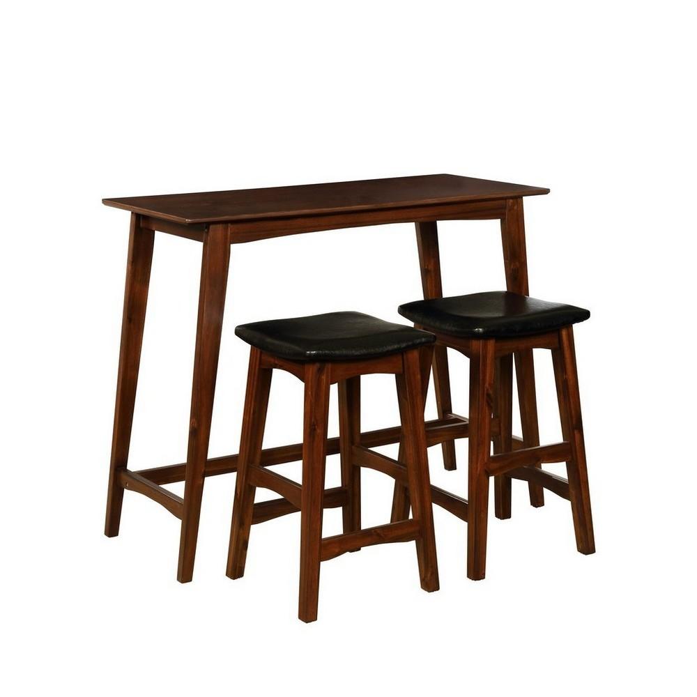 Sloan Tavern Set Walnut (Brown) - Linon