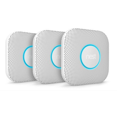Nest Protect Battery 2nd Gen Smart Smoke & Carbon Monoxide Monitor - 3 Pack