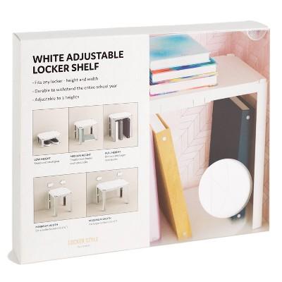 U-Brands Adjustable Locker Shelf - White