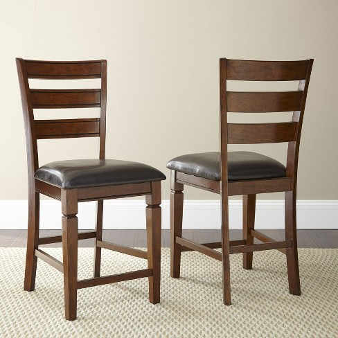 Karl Counter Chair Brown Cherry (Set of 2) - Steve Silver - image 1 of 1