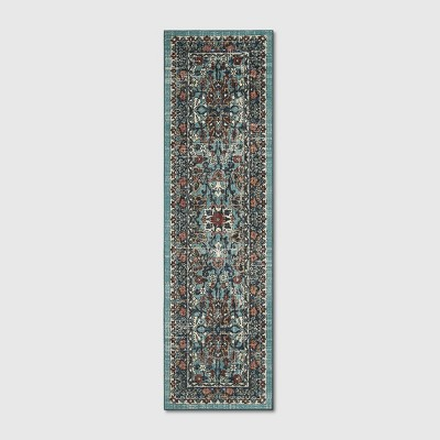 2'X7' Floral Tufted Accent Rugs Blue - Threshold™