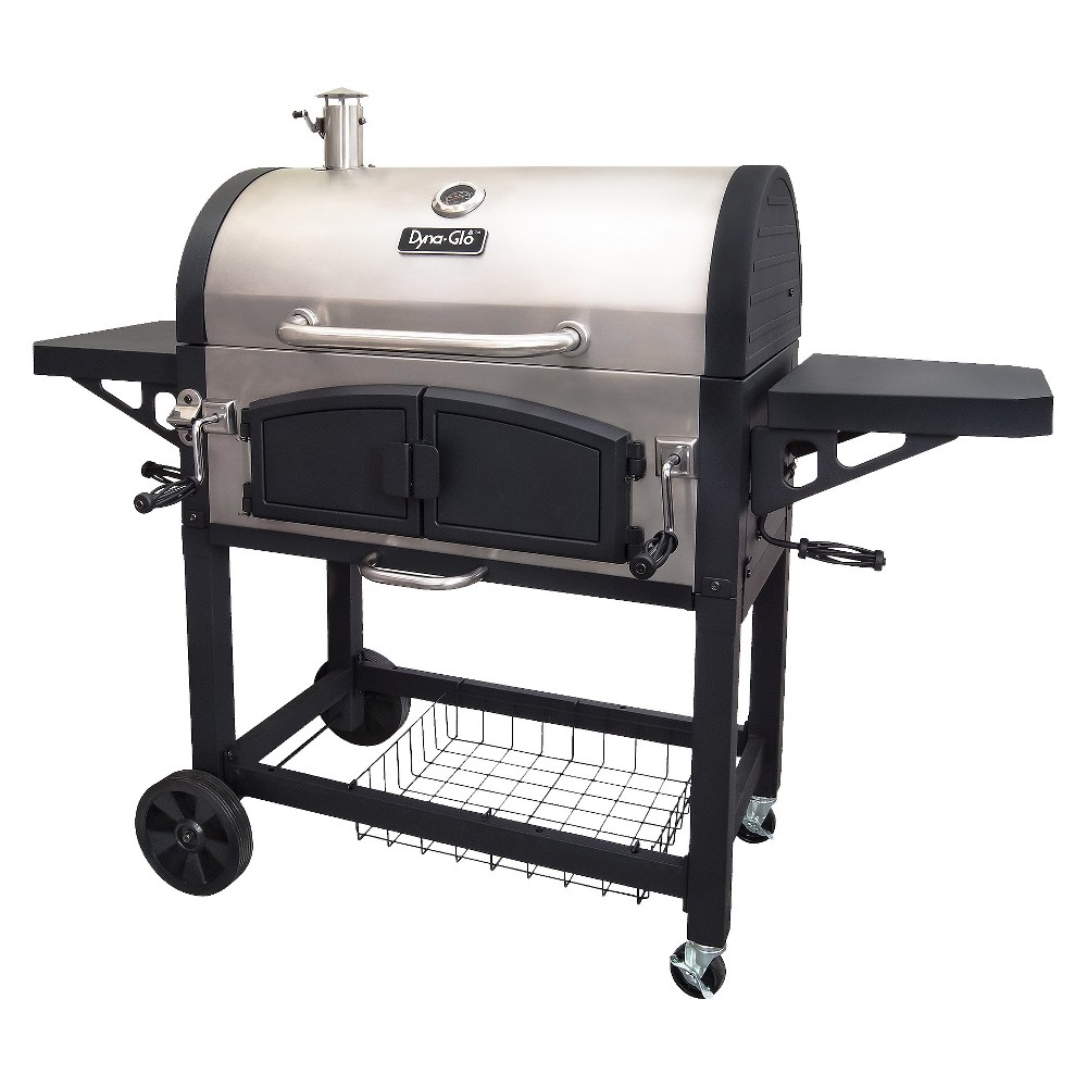 Image of Dyna-Glo Dual Zone Premium Charcoal Grill Model DGN576SNC-D, Black