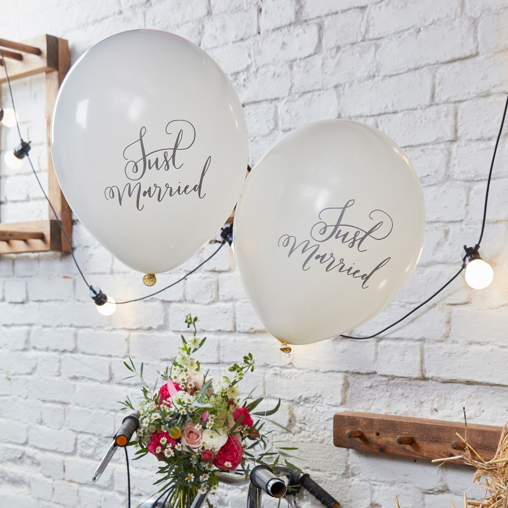 "Image of ""10ct """"Just Married"""" Balloons"""