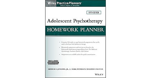 Adolescent Psychotherapy Homework Planne ( Wiley Practice Planners) (Updated) (Mixed media product) - image 1 of 1