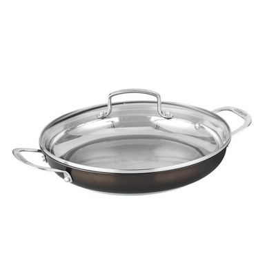 """Cuisinart In the Mix 12"""" Stainless Steel Redefine Cooking Everyday Pan with Cover - 85C25-30D"""