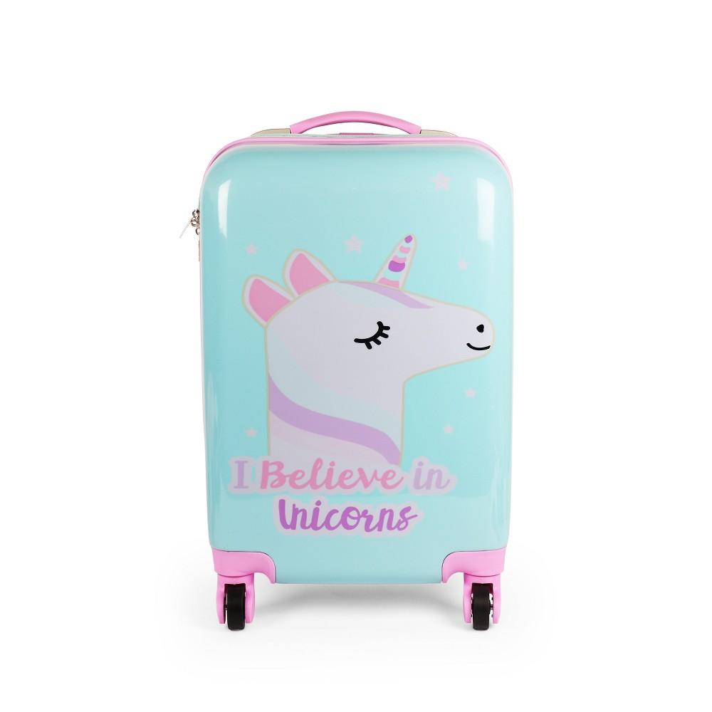 """Image of """"20"""""""" Kids Hardside Suitcase - Unicorn, Girl's, Pink"""""""