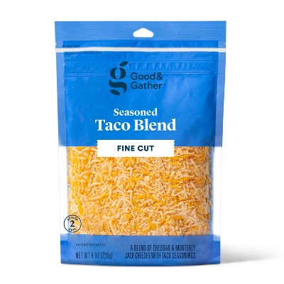 Finely Shredded Taco Blend Cheese - 8oz - Good & Gather™