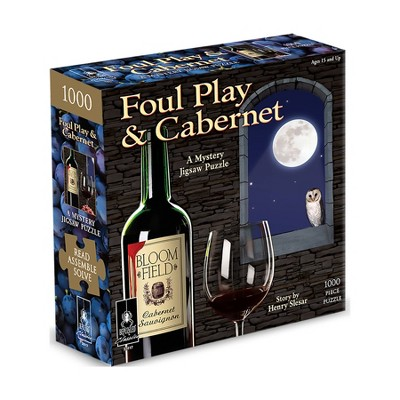 Bepuzzled Classic Mystery: Foul Play & Cabernet Jigsaw Puzzle - 1000pc