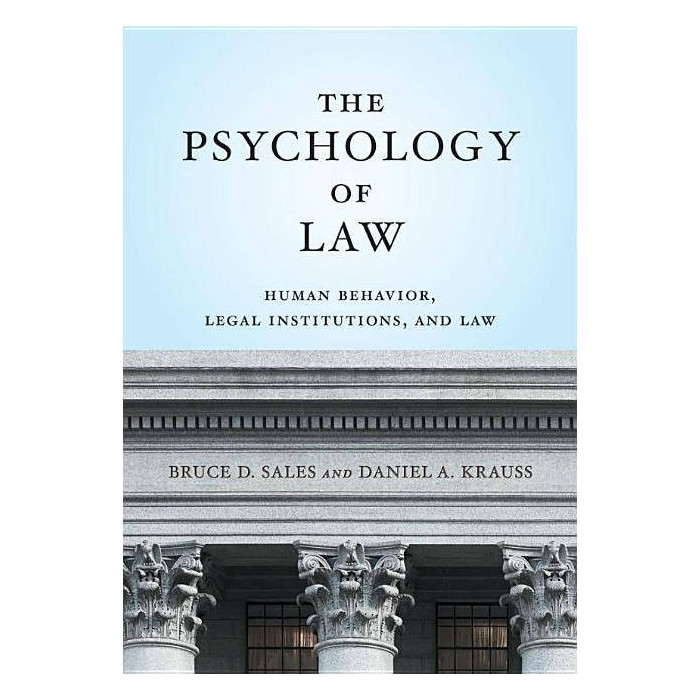 The Psychology of Law - (Law and Public Policy/Psychology and the Social Sciences) (Hardcover) - image 1 of 1