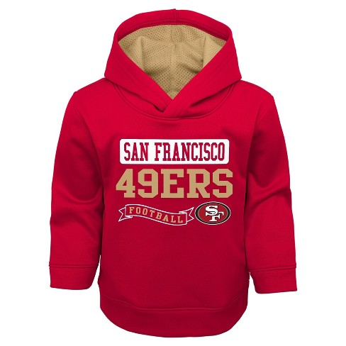 1d2ff5e1f San Francisco 49ers Toddler Boys  Mesh Lined Hood Pullover Hoodie ...