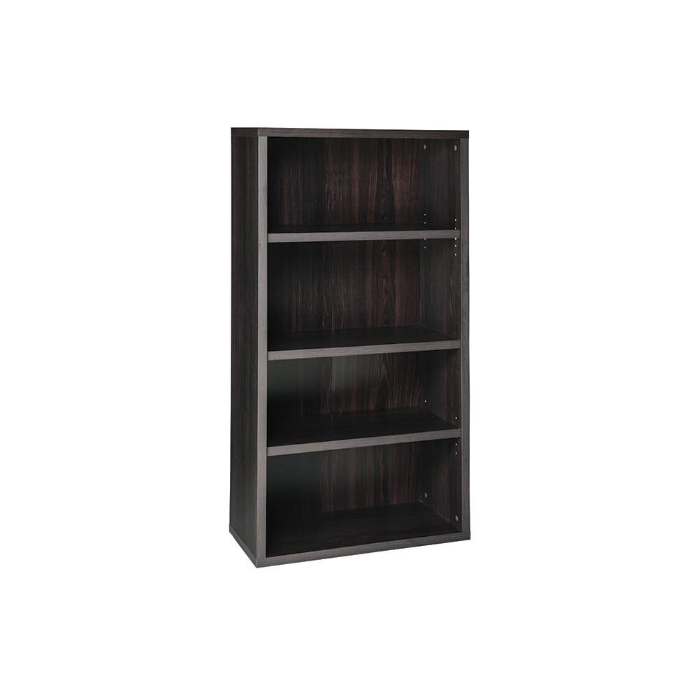 """Image of """"58.52"""""""" 4 Shelf Bookcase Black/Walnut - ClosetMaid"""""""
