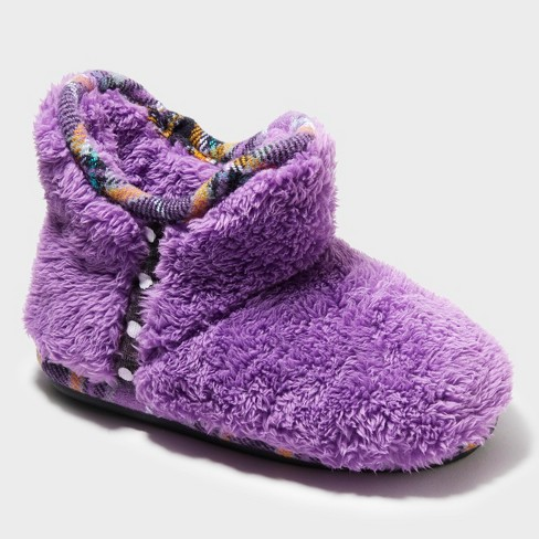 f1259fe8c1a Girls' Dearfoams Bootie Slippers - Purple 9-10 : Target