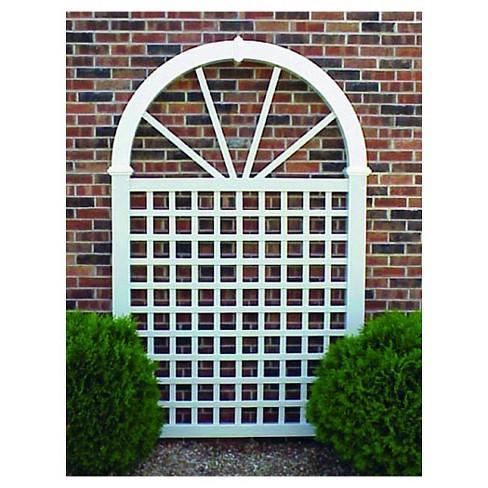 "92"" Vinyl Trellis Garden Decorative Structures - White - Dura-Trel - image 1 of 1"