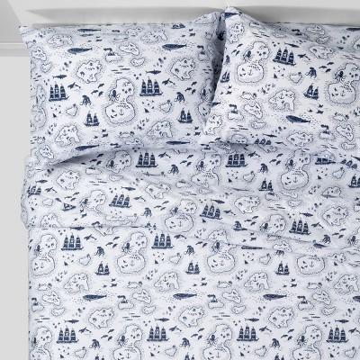 3pc Twin Treasure Island Sheet Set Blue - Pillowfort™