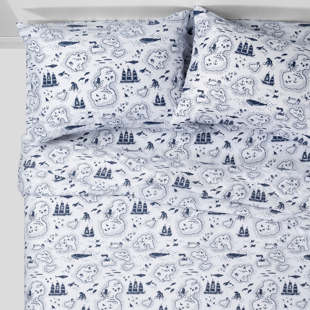 4pc Queen Treasure Island Sheet Set Blue - Pillowfort