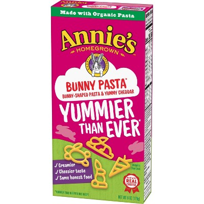 Annie's Homegrown Bunny Pasta with Yummy Cheese Mix 6oz