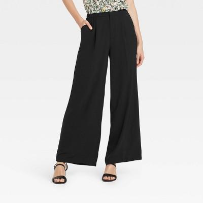 Women's Silky Wide Leg Lounge Pants - Who What Wear™