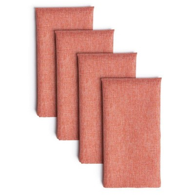 "4pk 20""X20"" Somers Napkins Coral - Town & Country Living"