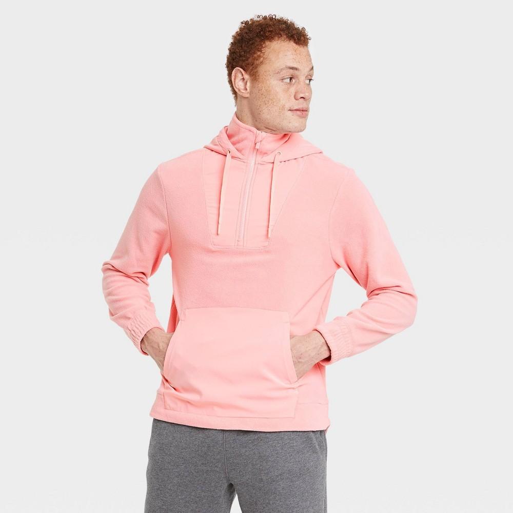 Men 39 S Fleece Pullover Sweatshirt All In Motion 8482 Pale Pink L