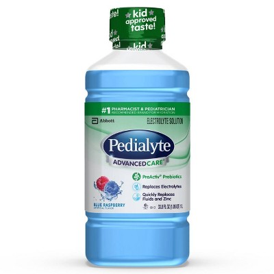 Pedialyte Electrolyte Solution Blue Raspberry - 33.8 fl oz