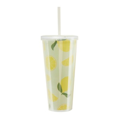 24oz Reusable Cup with Straw Light Green