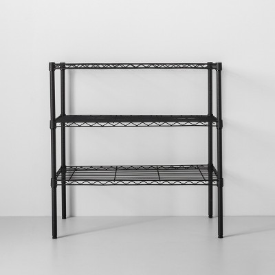3 Tier Wide Wire Shelf Black - Made By Design™