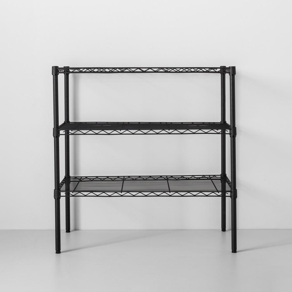 Image of 3 Tier Wide Wire Shelf Black - Made By Design