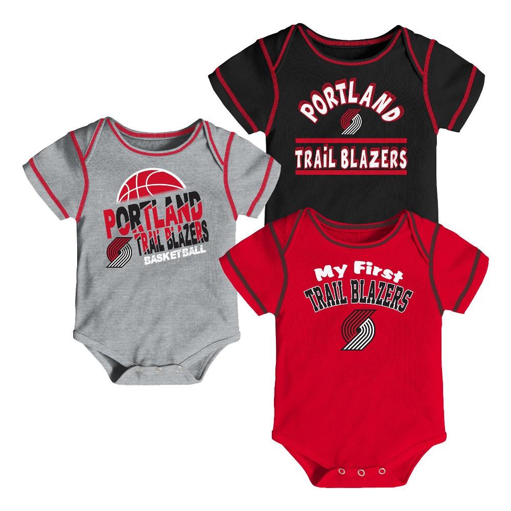 Portland Trail Blazers Boys' Rookie 3pk Body Suit Set 18 M, Size: 18M, Multicolored