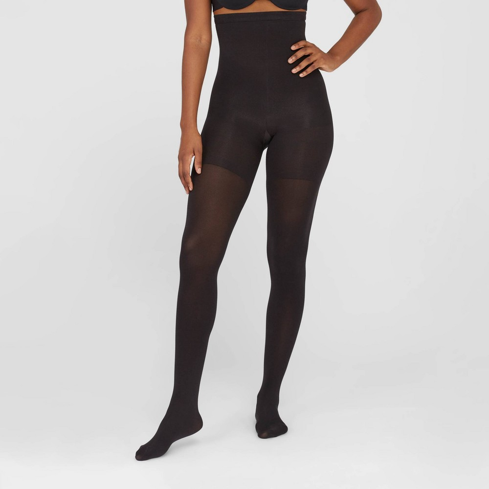 Image of Assets By Spanx Women's High-Waist Shaping Tights - Black 1