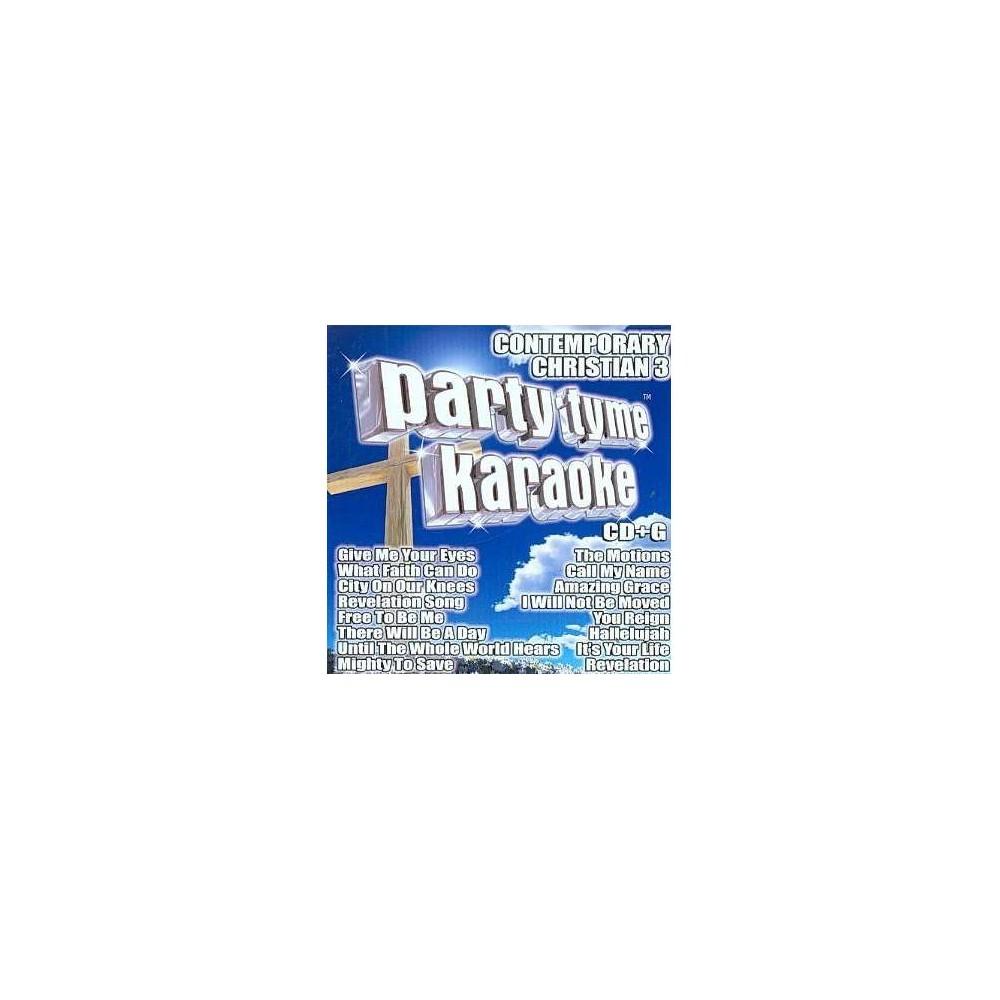 Karaoke - Party Tyme Karaoke: Contemporary Christian Vol. 3 (CD) Promos