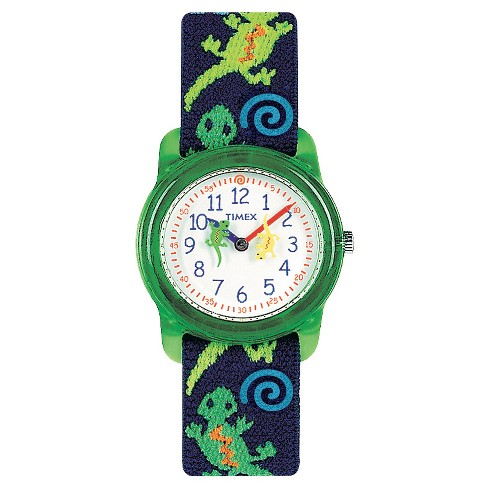 Kid's Timex Watch with Gecko Strap - Blue/Green T72881XY - image 1 of 1