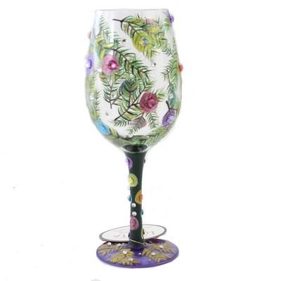 "Tabletop 9.0"" Season Of Light Lolita Stemmed Wine Glass Enesco  -  Drinkware"