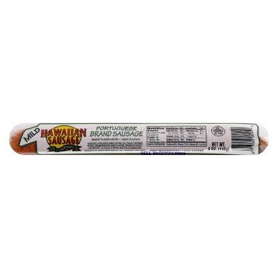 Hawaiian Portuguese Brand Sausage Mild - 5oz